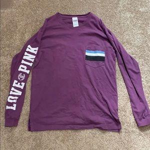 PINK long sleeve crew shirt